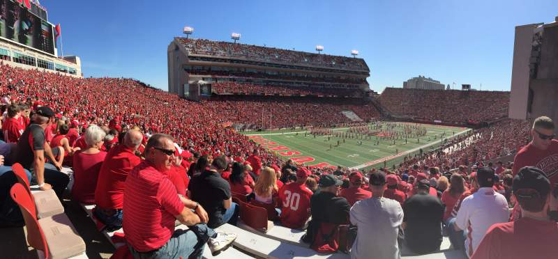 Seating view for Memorial Stadium Section 32 Row 64 Seat 12 and 13