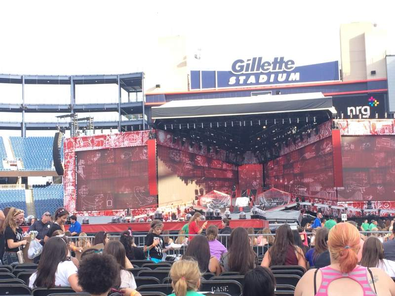 Seating view for Gillette Stadium Section c3 Row 15 Seat 10