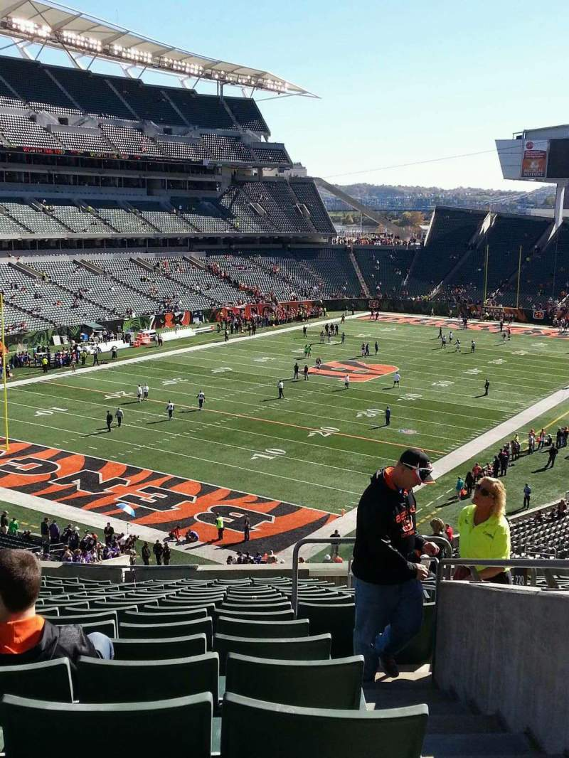 Seating view for Paul Brown Stadium Section 220 Row 18 Seat 4