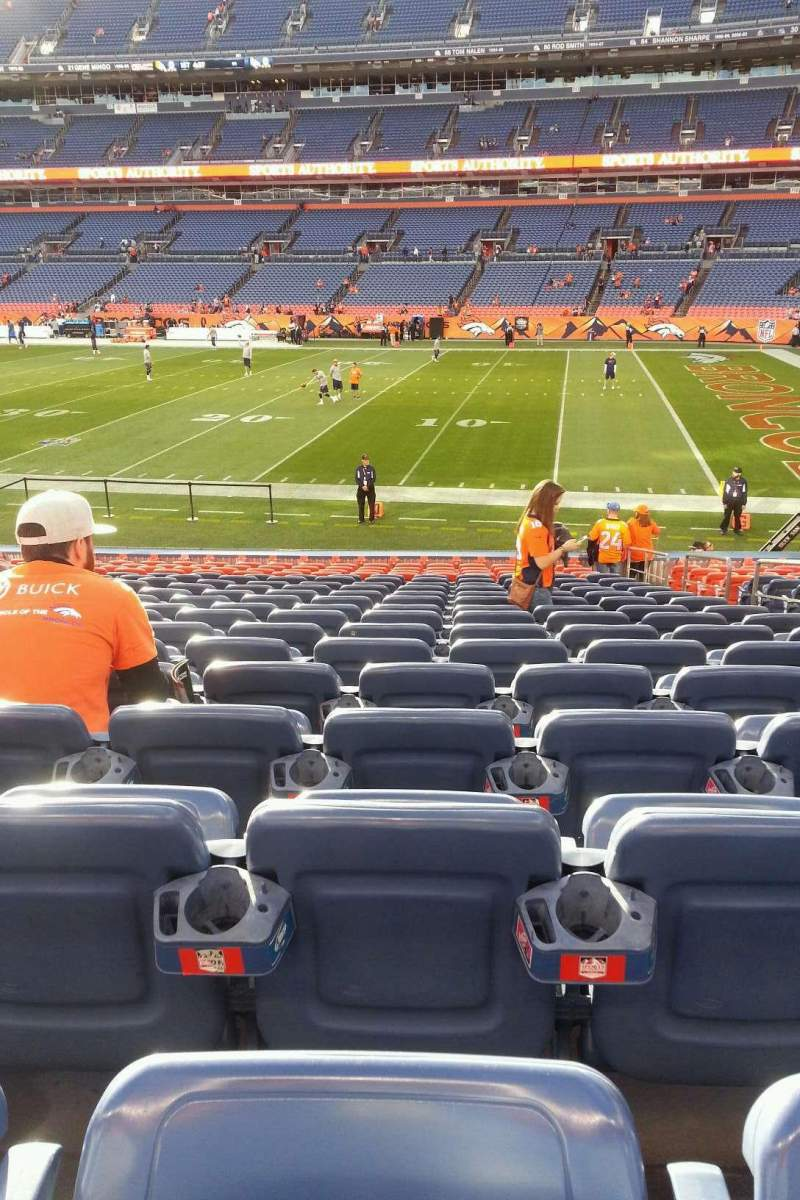 Seating view for Sports Authority Field at Mile High Section 120 Row 19 Seat 5