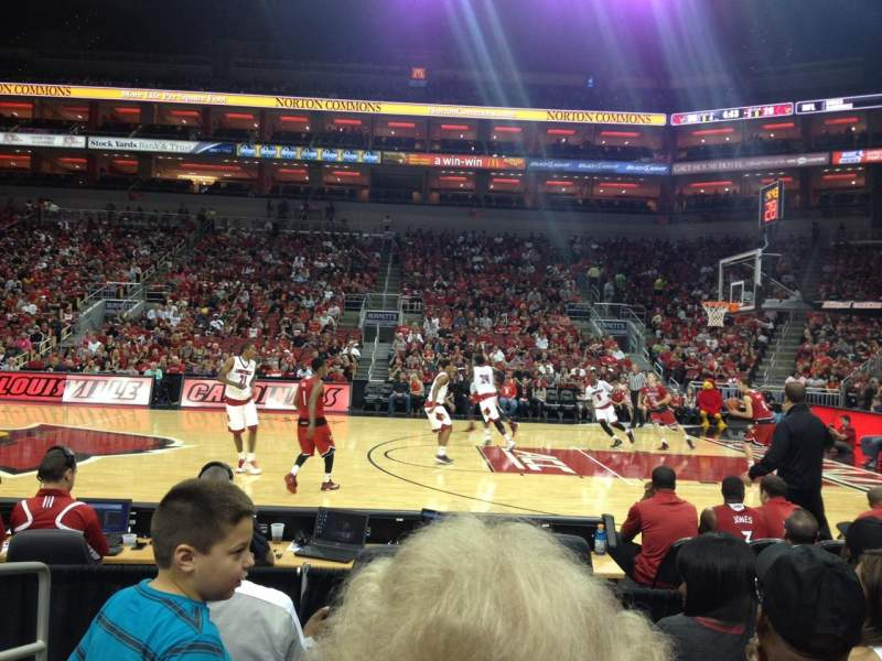 Seating view for KFC Yum! Center Section 115 Row E Seat 16