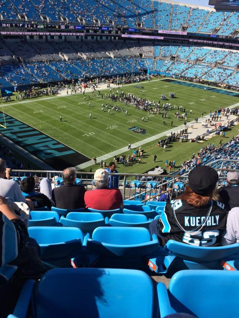 Seating view for Bank of America Stadium Section 522 Row 6 Seat 9