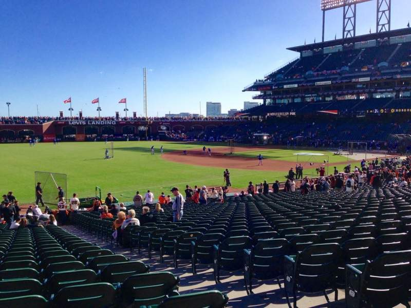 Seating view for AT&T Park Section 130 Row 30 Seat 3