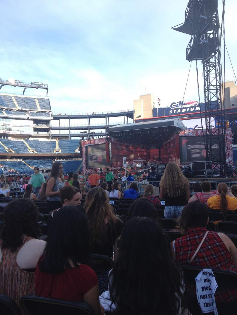 Seating view for Gillette Stadium Section C1 Row 11 Seat 4