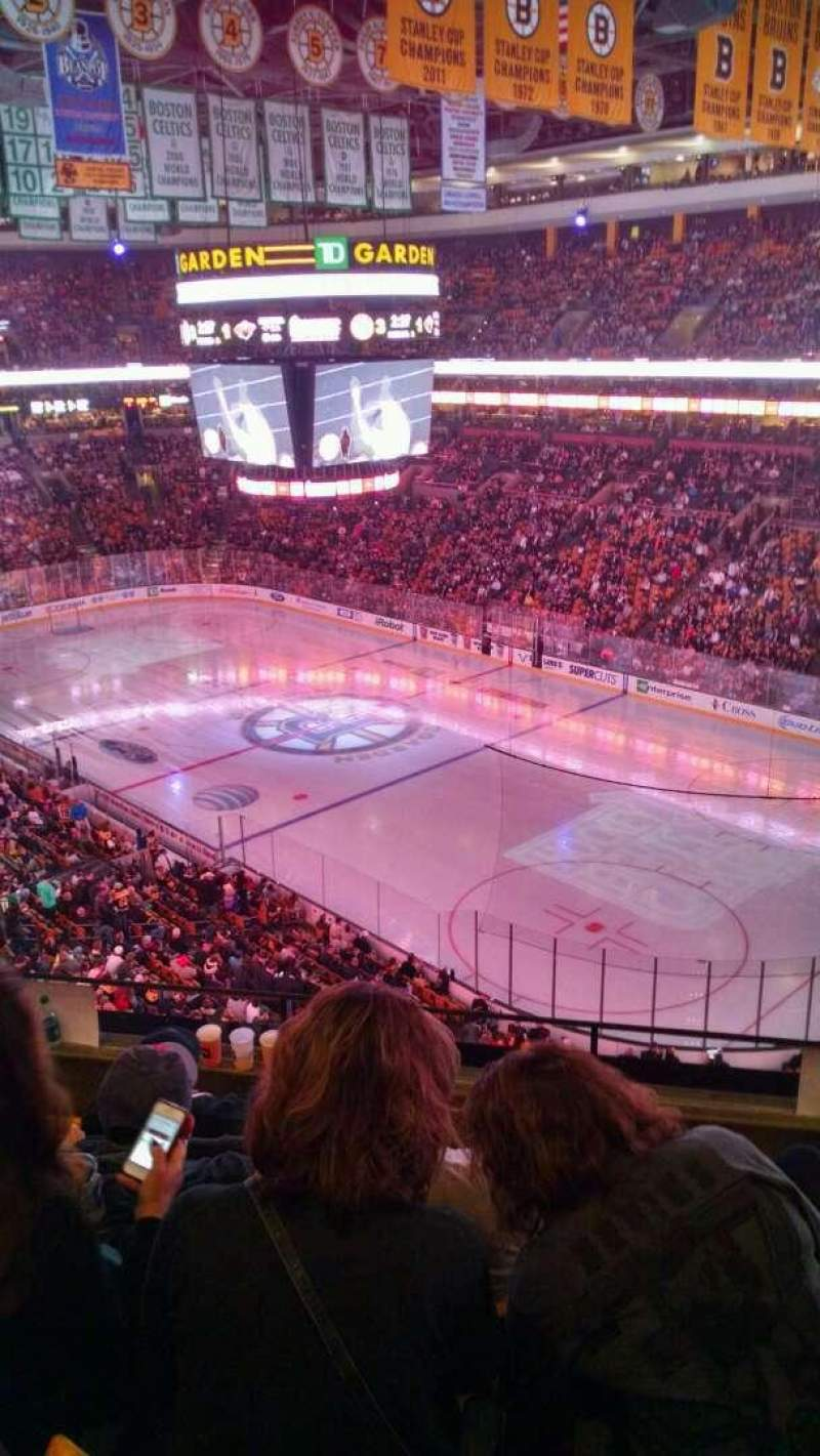 Seating view for TD Garden Section Bal 327 Row 5 Seat 7