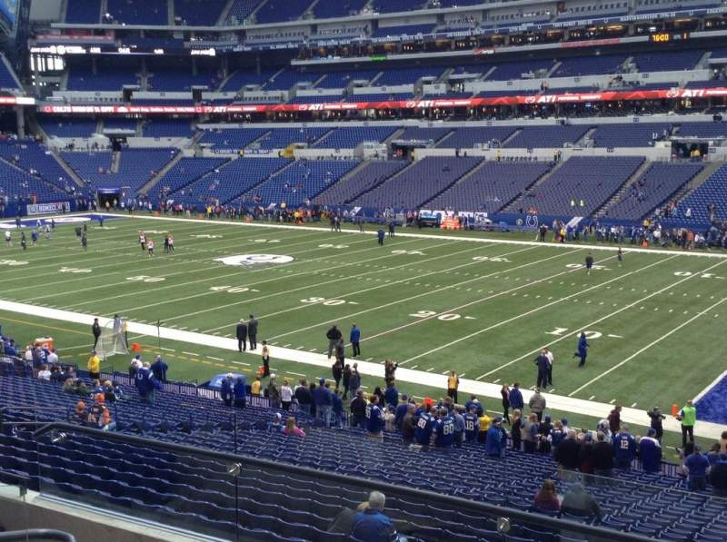 Seating view for Lucas Oil Stadium Section 235 Row 5 Seat 22 and 23