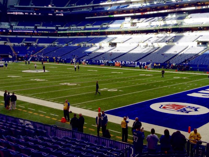 Seating view for Lucas Oil Stadium Section 105 Row 16 Seat 21, 22, 23