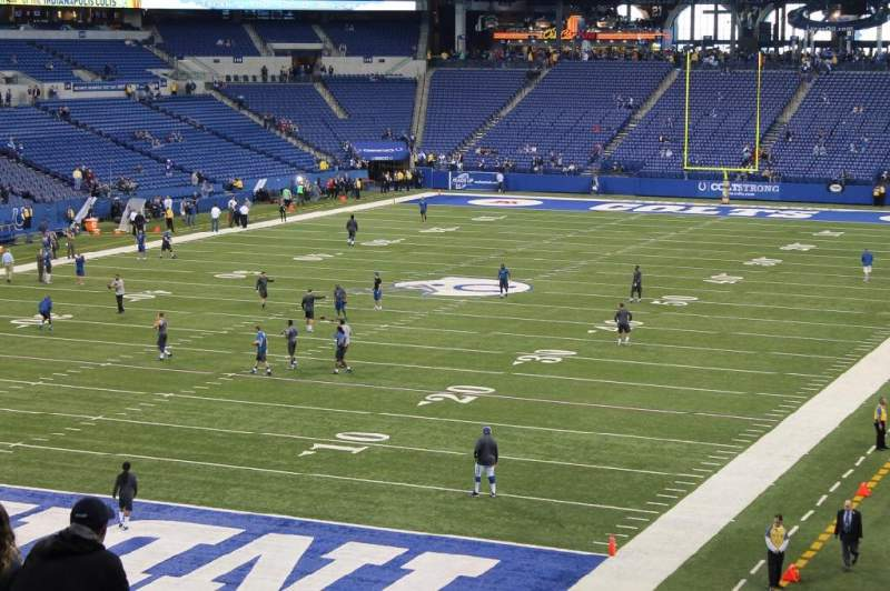 Seating view for Lucas Oil Stadium Section 223 Row 9 Seat 3 and 4