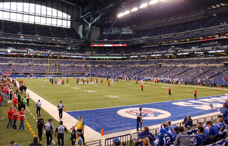 Seating view for Lucas Oil Stadium Section 103 Row 10 Seat 7 and 8 on