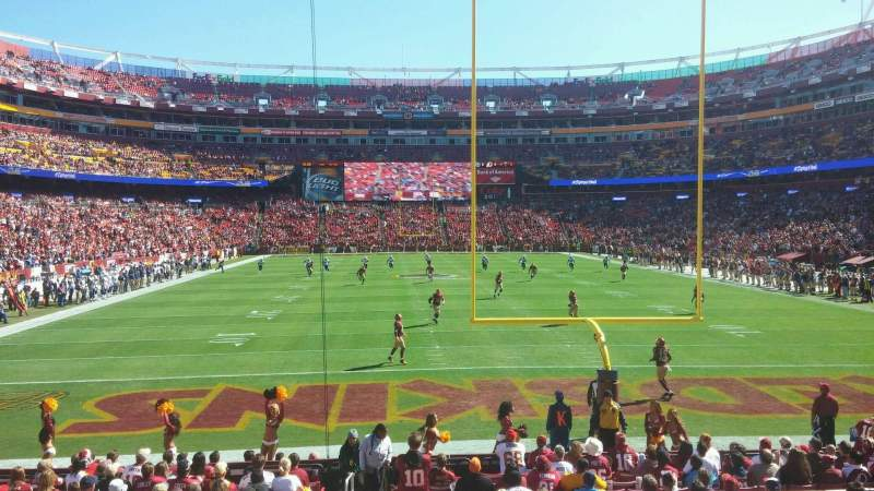 Seating view for FedEx Field Section 111 Row 14 Seat 21