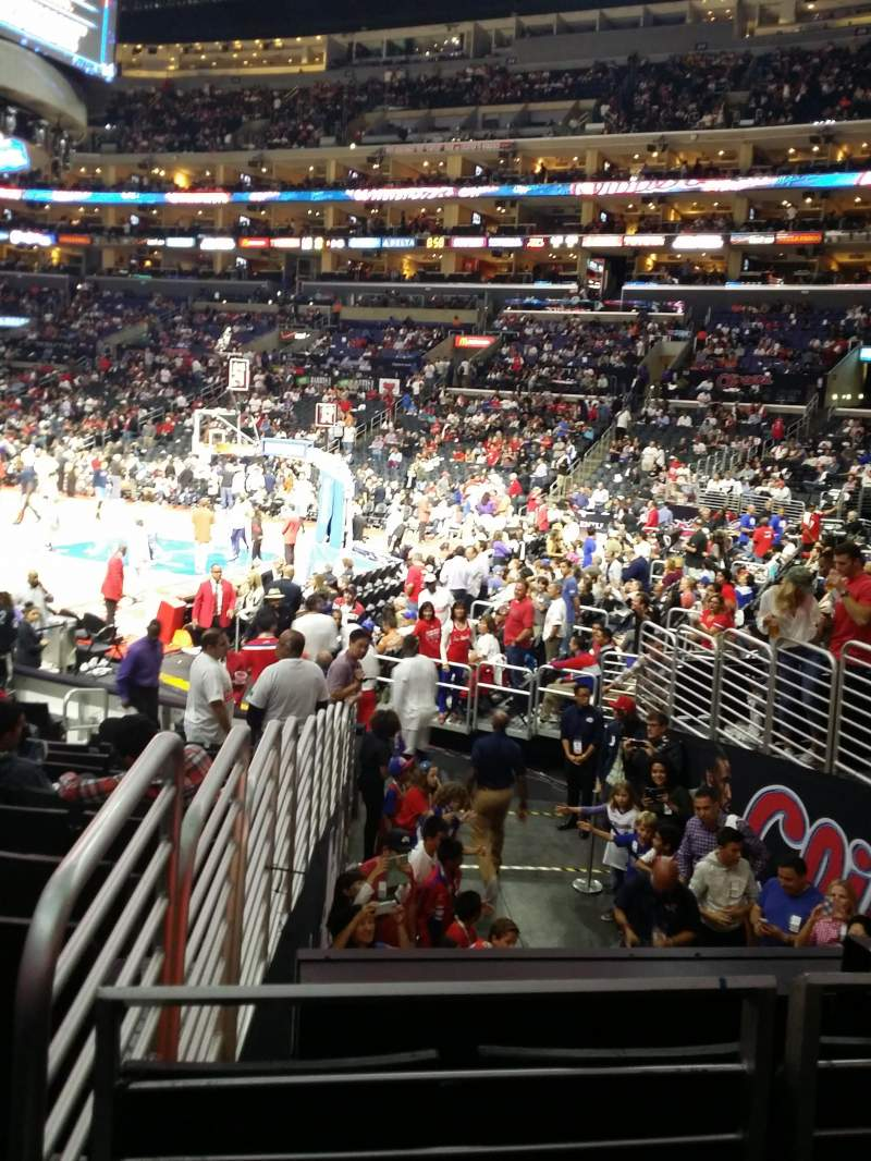 Seating view for Staples Center  Section 117 Row 15 Seat 22
