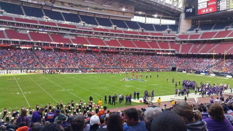 Seating view for NRG Stadium Section 130 Row Z Seat 7