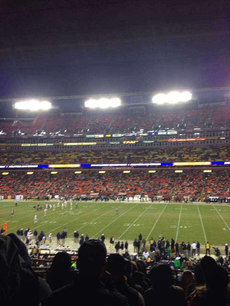 Seating view for Fedex Field Section 219 Row 9 Seat 16