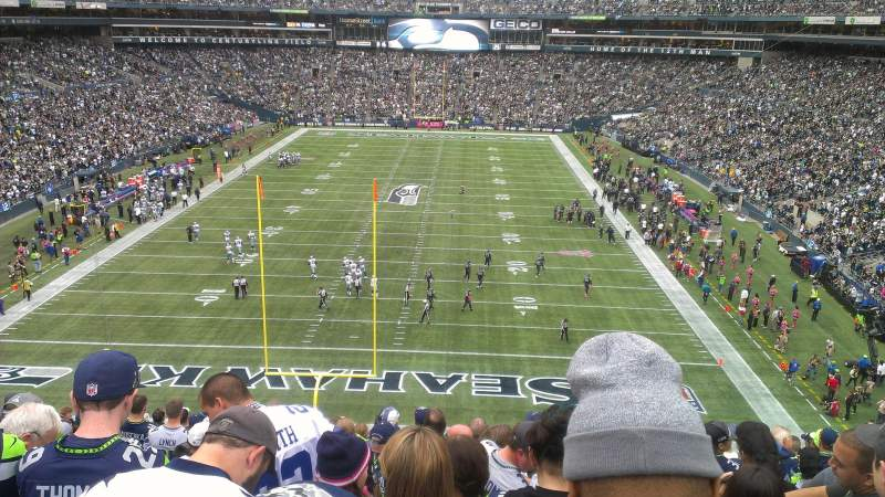 Seating view for CenturyLink Field Section 147 Row Z Seat 18