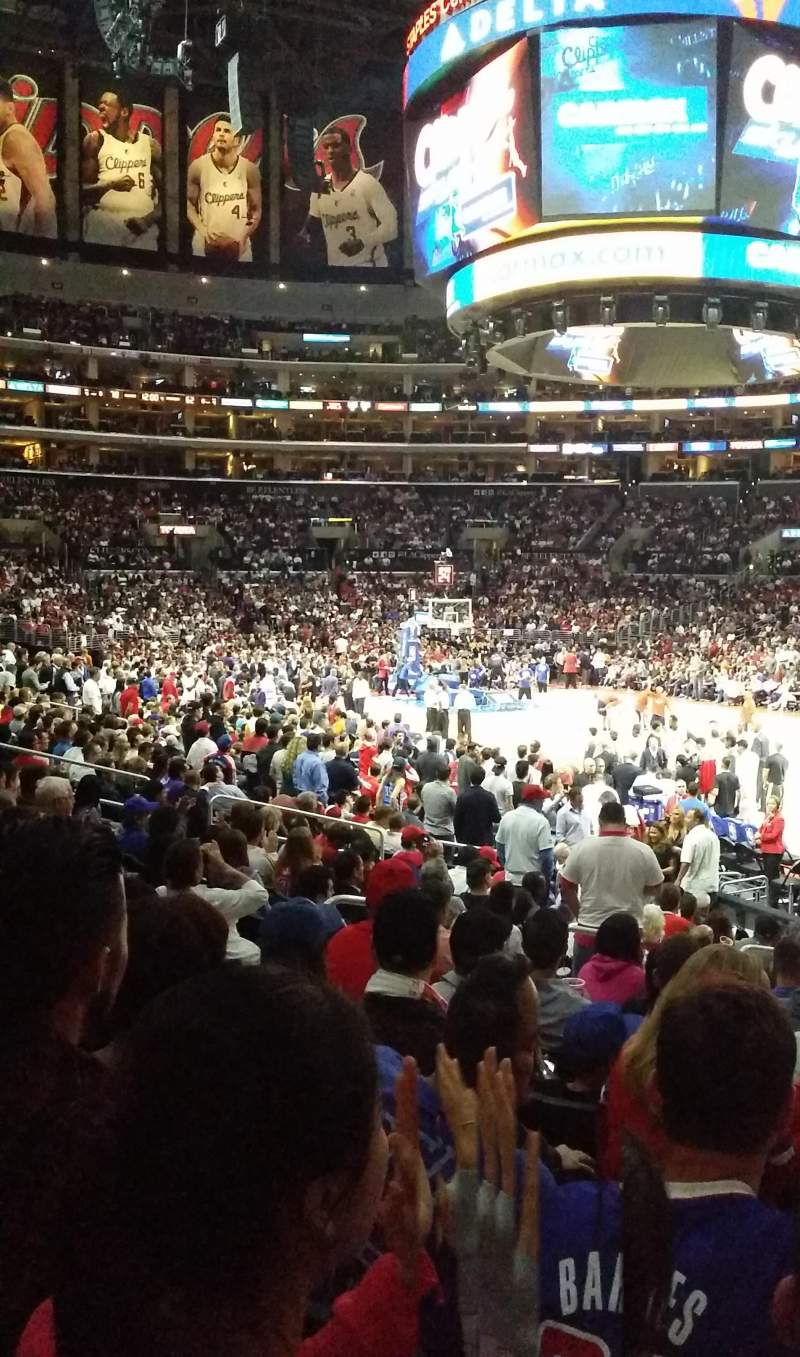 Seating view for Staples Center Section 117 Row 15 Seat 23