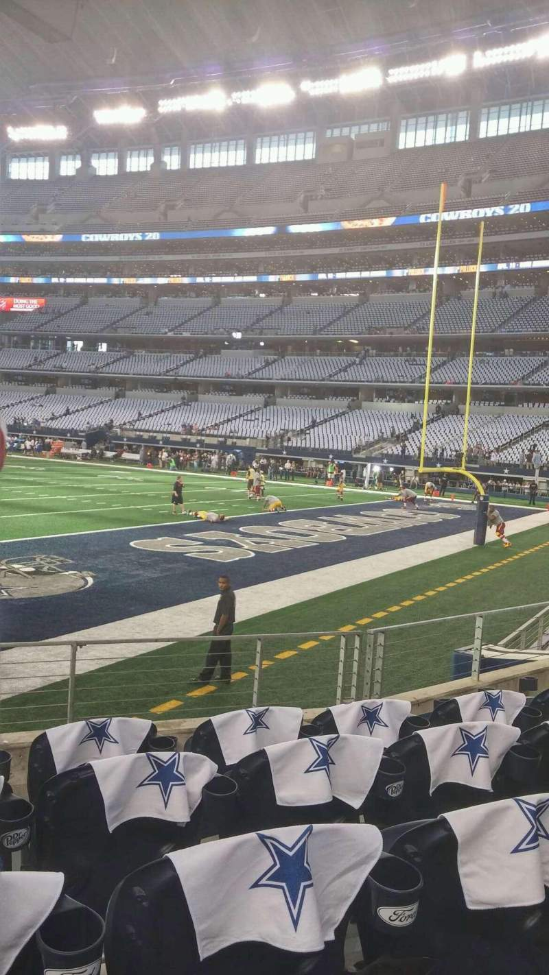 Seating view for AT&T Stadium Section 101 Row 5 Seat 16
