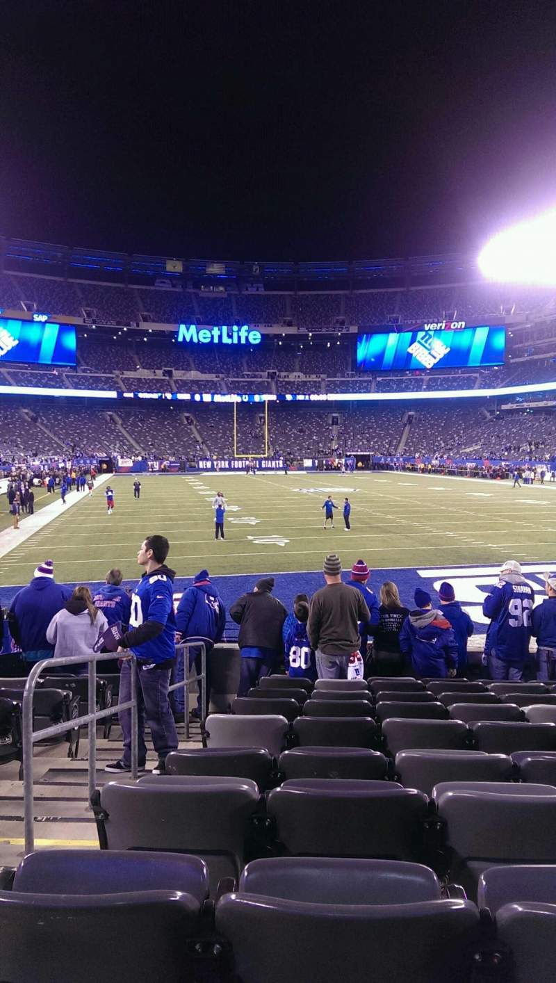 Seating view for MetLife Stadium Section 103 Row 10 Seat 21