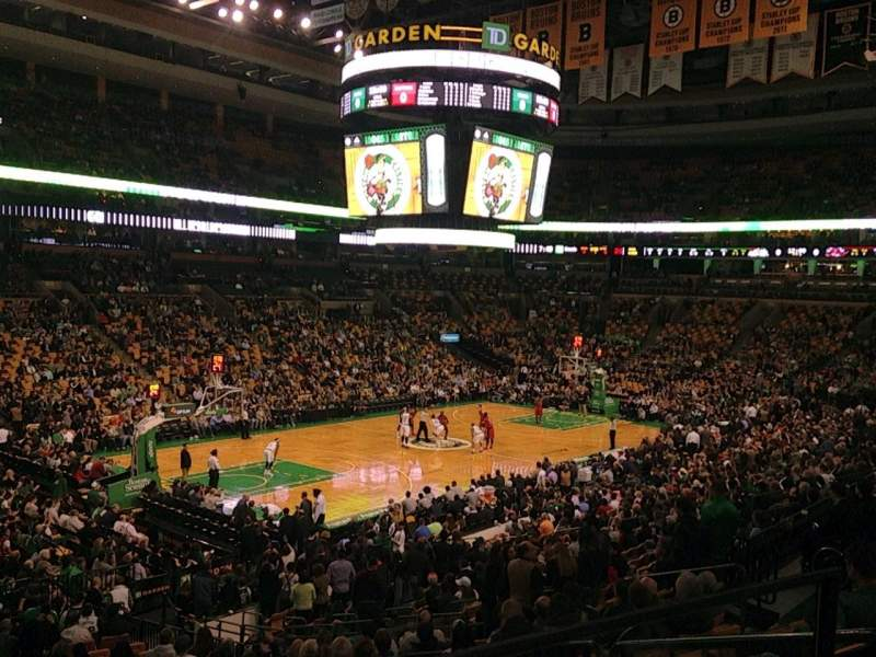 Seating view for TD Garden Section Loge 4 Row 23 Seat 17
