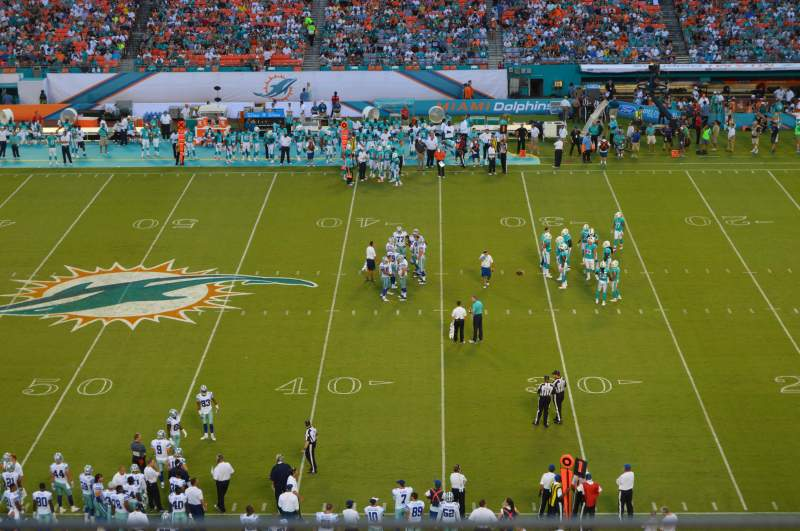 Seating view for Hard Rock Stadium Section 413 Row 1 Seat 13