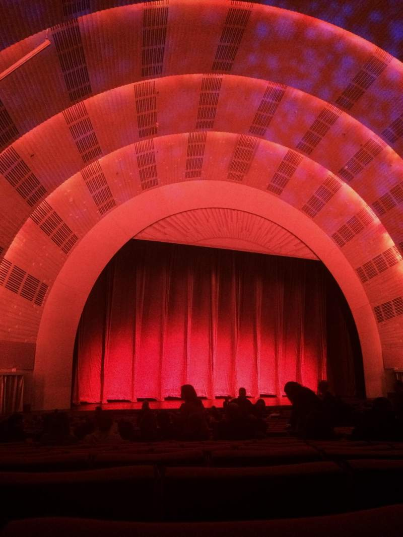 Seating view for Radio City Music Hall Section orchestra 6 Row K Seat 610