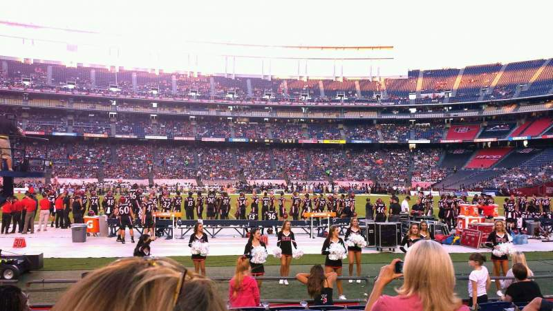 Seating view for Qualcomm Stadium Section F35 Row 9 Seat 1