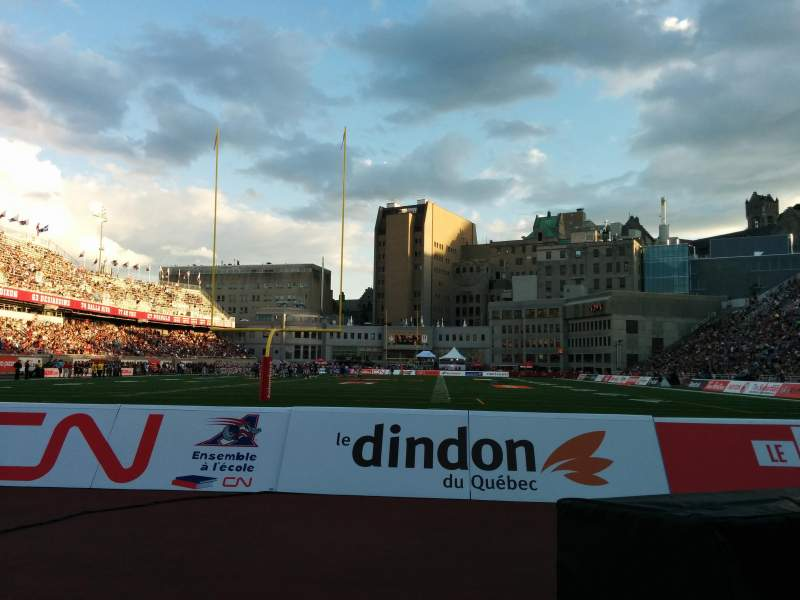 Seating view for Percival Molson Memorial Stadium Section P3 Row 1 Seat 12
