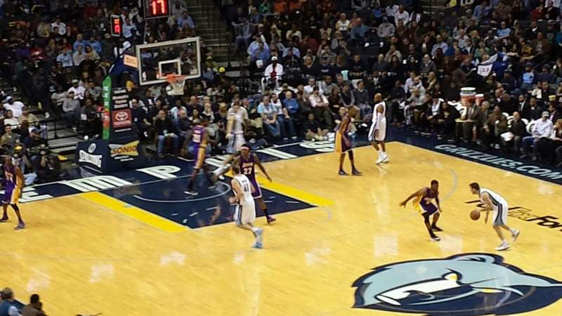 Seating view for FedEx Forum Section 116A Row EE Seat 2