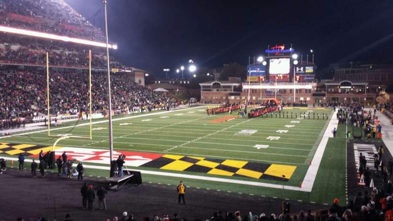 Seating view for Maryland Stadium Section 17 Row DD Seat 20