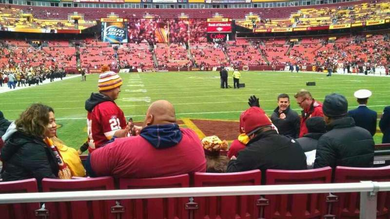 Seating view for FedEx Field Section 112 Row 3 Seat 13