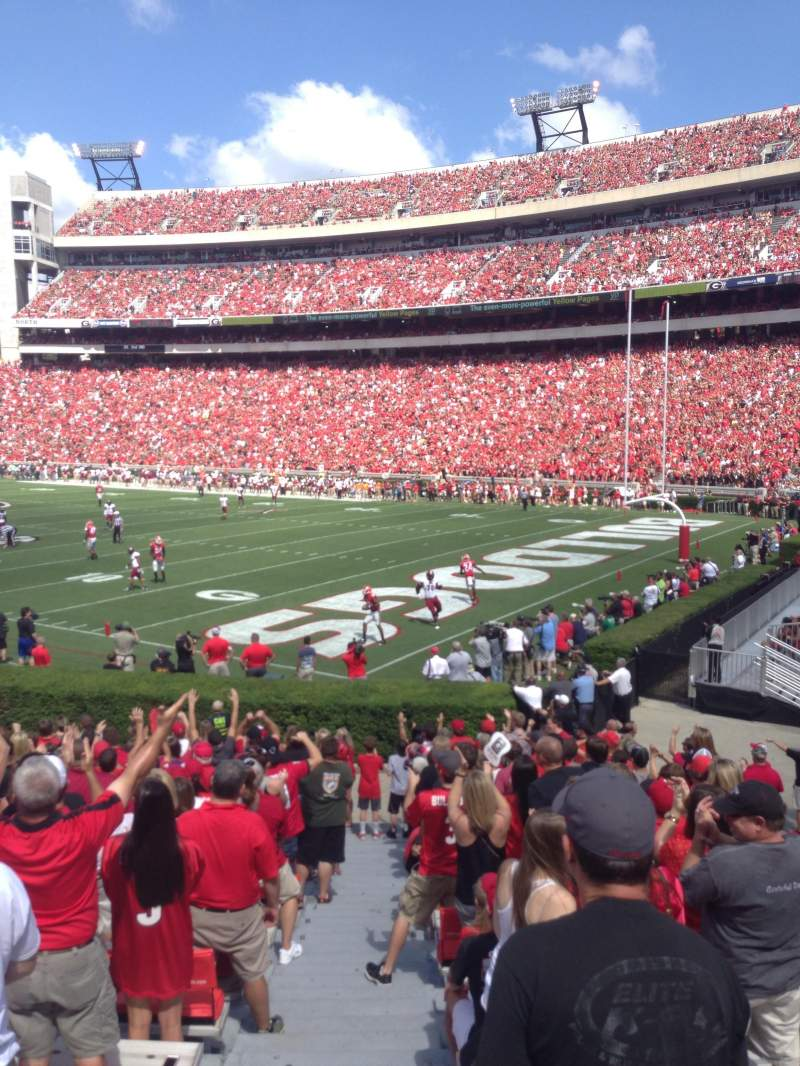 Seating view for Sanford Stadium Section 124 Row 4 Seat 4