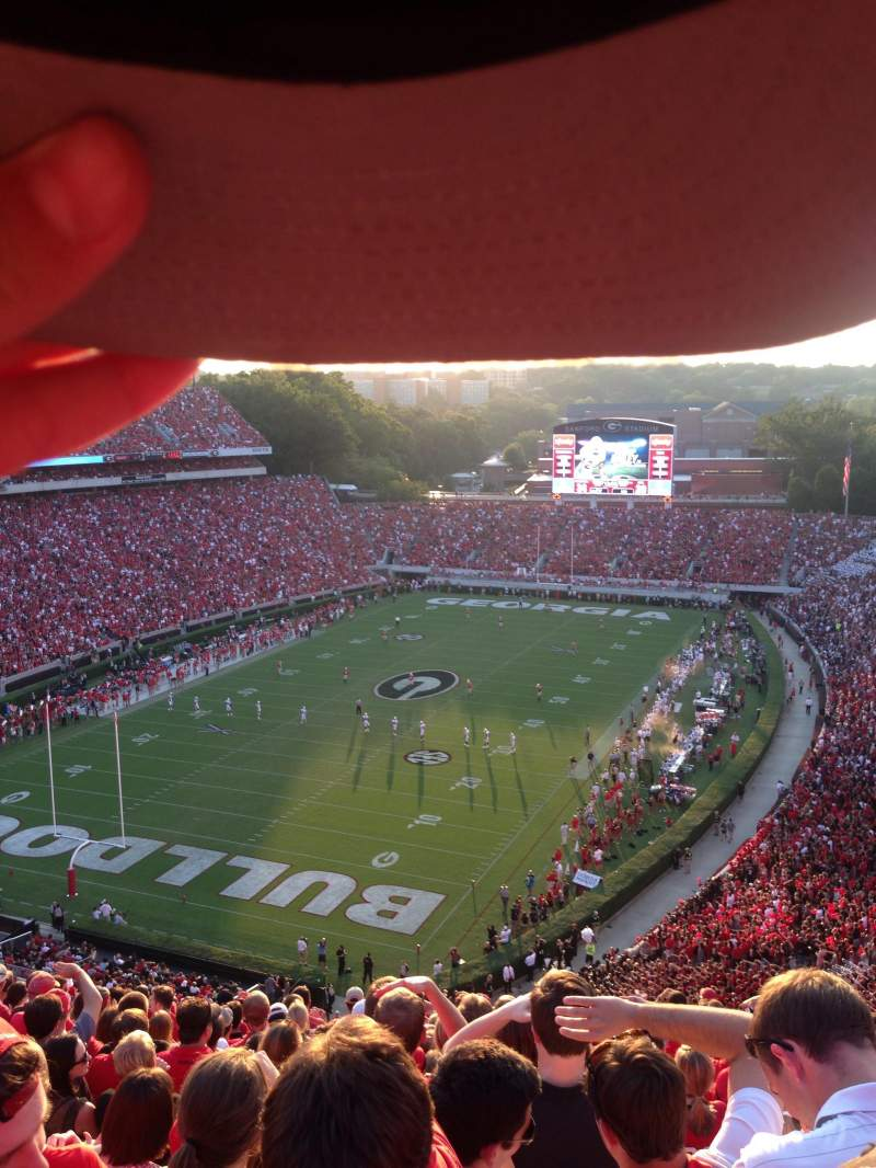 Seating view for Sanford Stadium Section 314 Row 6 Seat 1