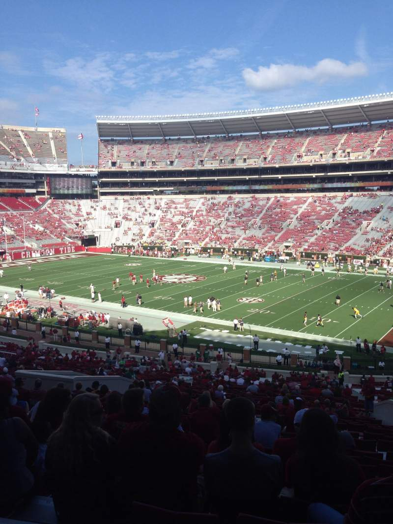 Seating view for Bryant-Denny Stadium Section C Row 44 Seat 8