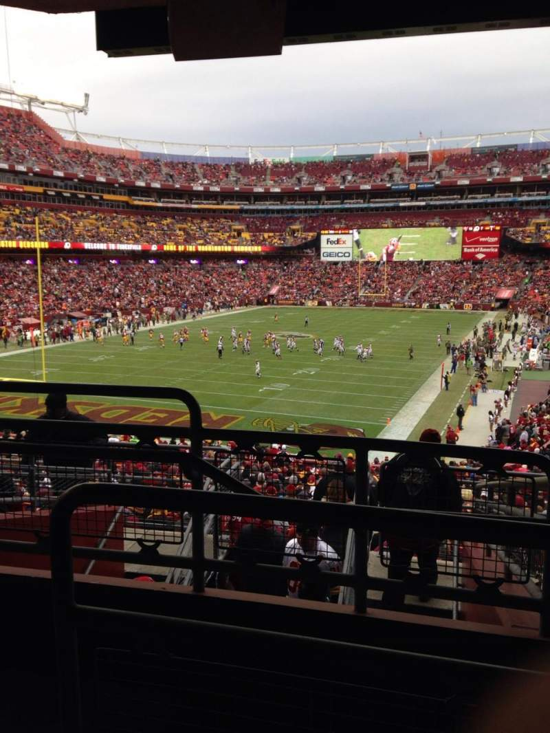 Seating view for Fedex Field Section 229 Row 9 Seat Aisle