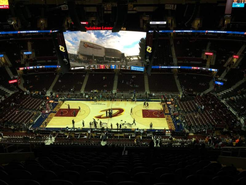 Seating view for Quicken loans Arena Section 226 Row 14 Seat 10