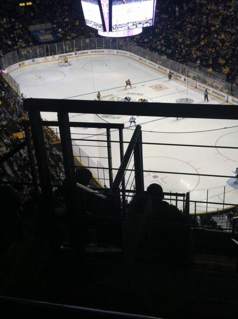 Seating view for Bridgestone Arena Section 331 Row J Seat 1