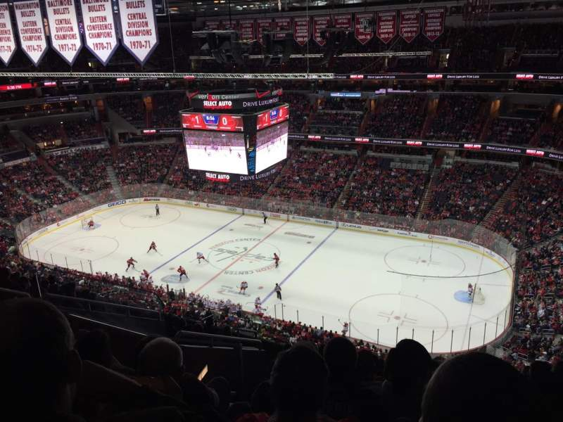 Seating view for Verizon Center Section 403 Row L Seat 6