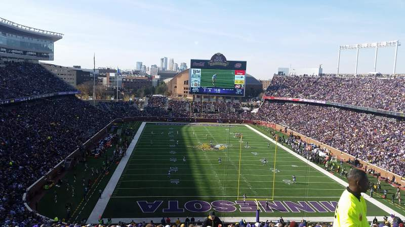 Seating view for TCF Bank Stadium Section 227 Row 22 Seat 4
