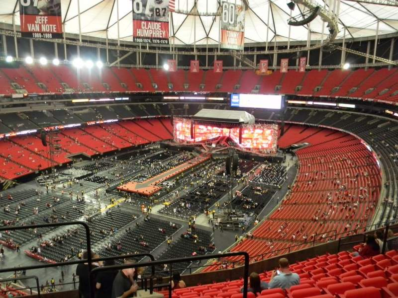 Seating view for Georgia Dome Section 303 Row 12 Seat 1