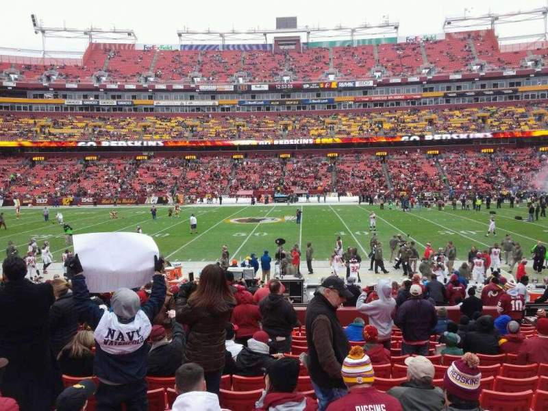 Seating view for FedEx Field Section 121 Row 16 Seat 14