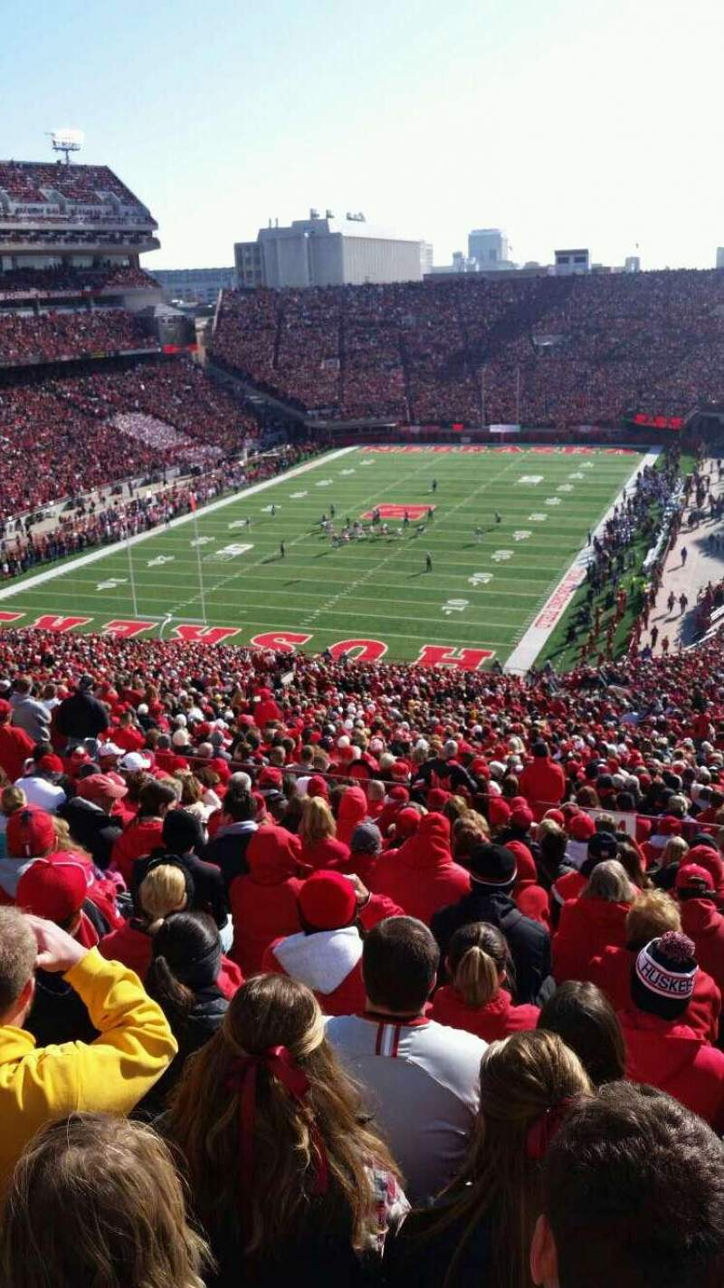 Seating view for Memorial Stadium Section 34 Row 95 Seat 20