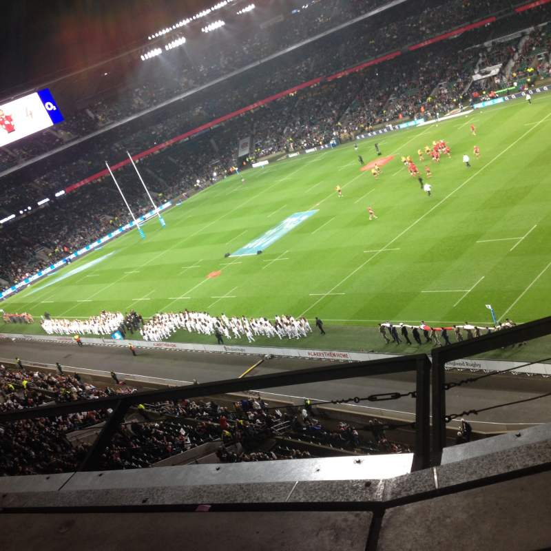 Seating view for Twickenham Stadium Section U27 Row B Seat 68