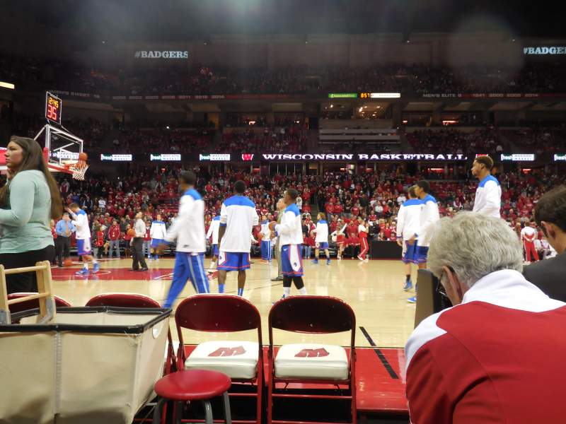 Kohl Center, section: 123, row: bb, seat: 1-2