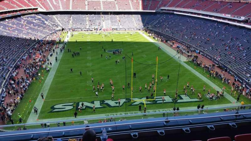 Seating view for Nrg Stadium Section 548 Row D Seat 12
