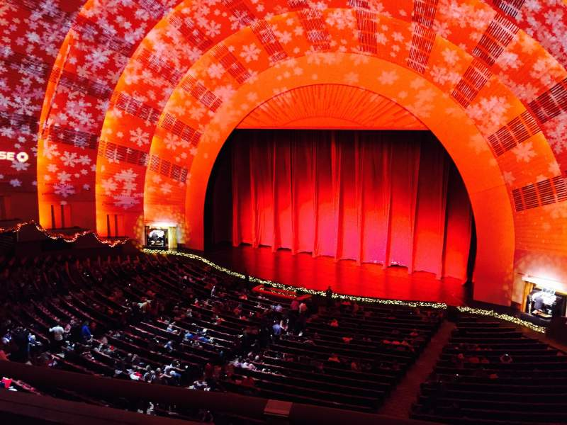 Seating view for Radio City Music Hall Section 2nd mezzanine 2 Row B Seat 201