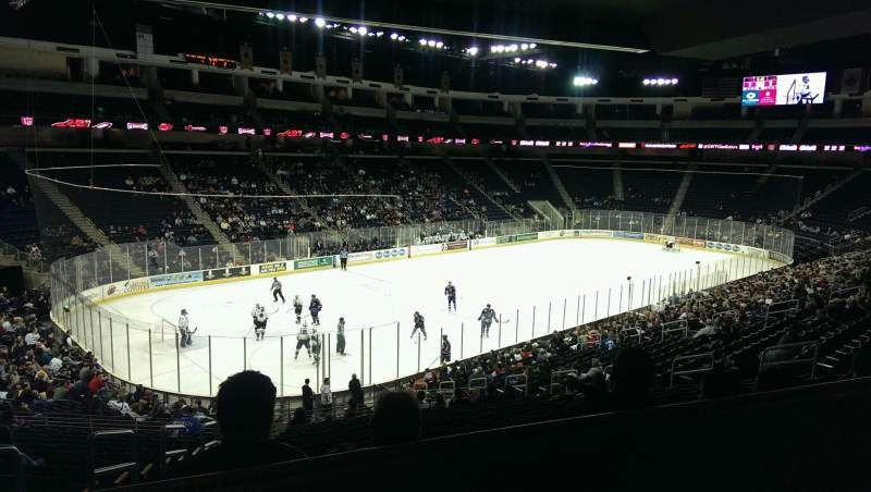 Seating view for Infinite Energy Arena Section 115 Row ZZ Seat 19