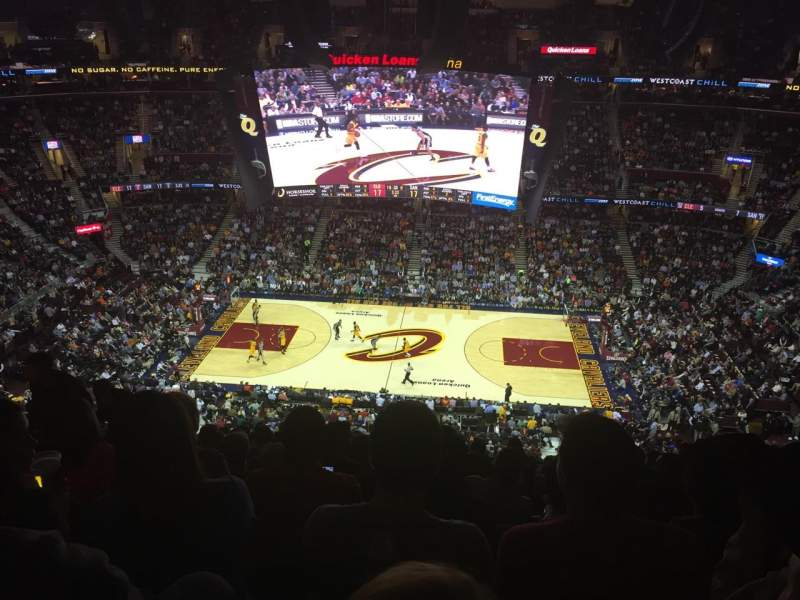 Seating view for Quicken Loans Arena Section 226 Row 13 Seat 10
