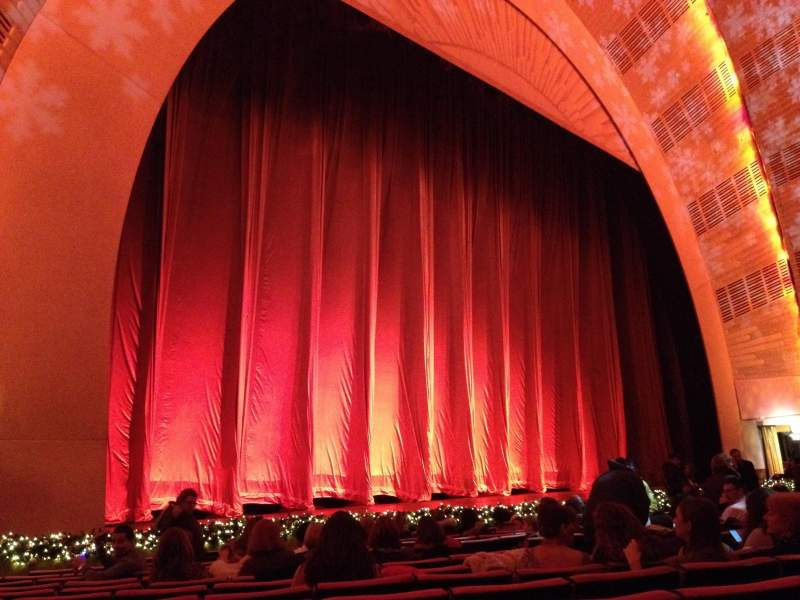 Seating view for Radio City Music Hall Section orchestra 6 Row OO Seat 612
