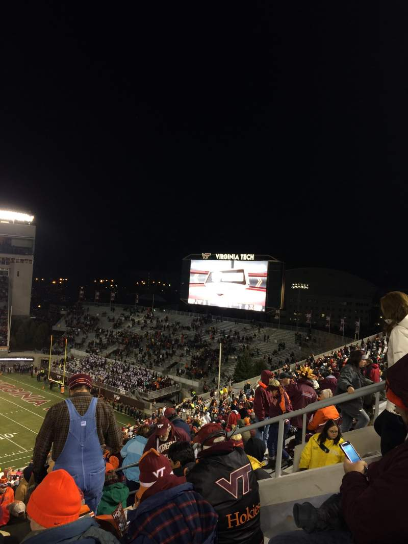 Seating view for Lane Stadium Section 29 Row 4F Seat 13