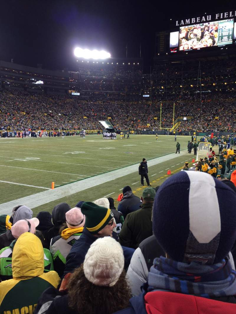 Seating view for Lambeau Field Section 108 Row 7 Seat 3