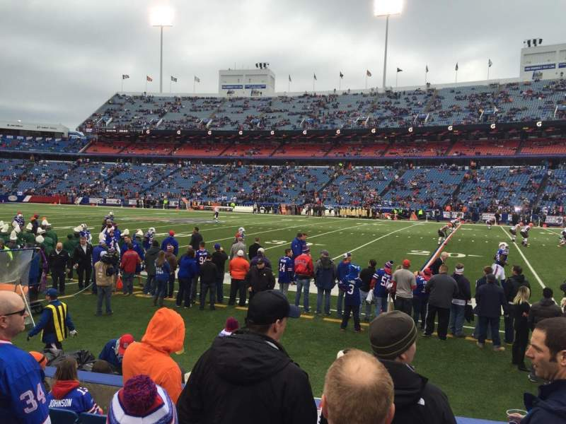 Seating view for New Era Field Section 131 Row 7 Seat 13